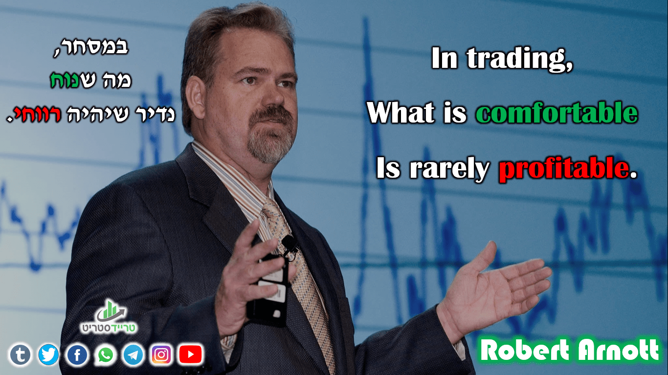 Robert Arnott- In trading, What is comfortable